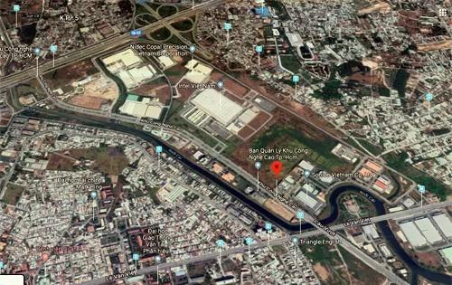 Khu Công Nghệ Cao TP HCM từ bản đồ