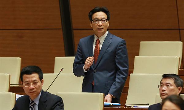 Phú Thủ tướng trả lời chất vấn liên quan tới khu CNC Hòa Lạc