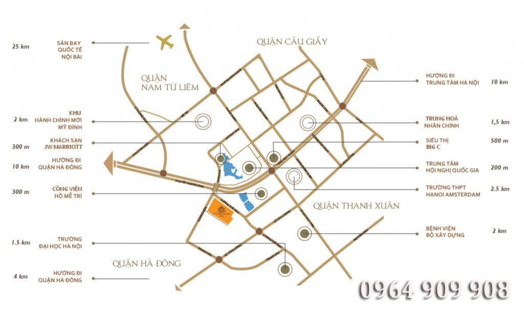 Cityland Luxury Villas Mễ Trì ở đâu