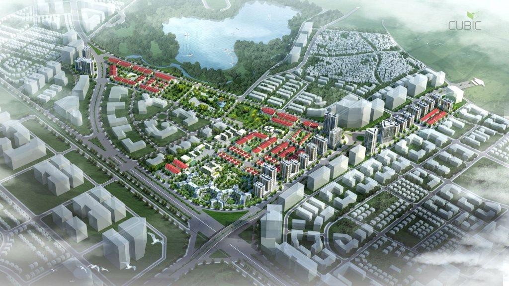 phối cảnh tổng thể quy hoạch dự án khu đô thị kiến hưng