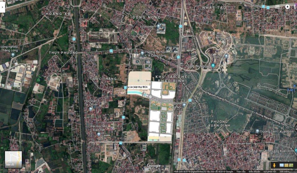 Vị trí khu biệt thự Tổng Cục An Ninh Bộ Công An