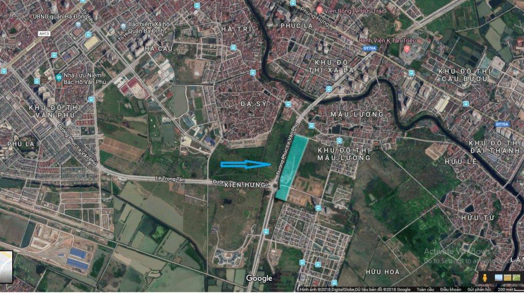 vị trí khu liền kề Kiến Hưng Luxury